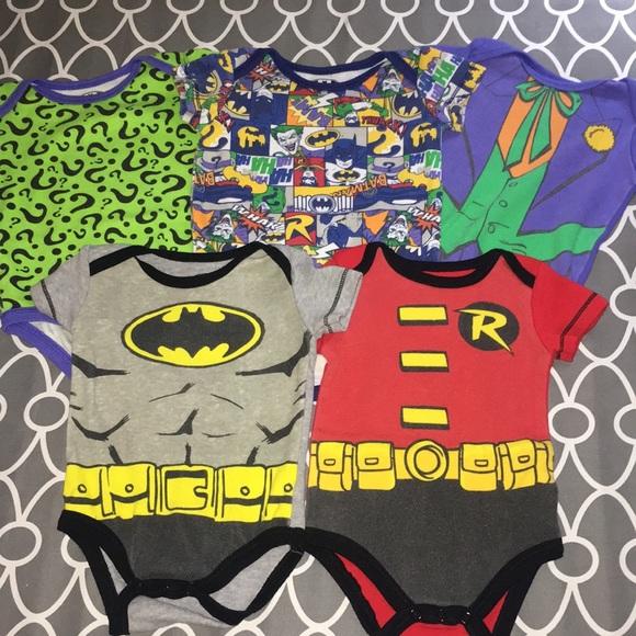 Lot of Batman Onesies Gently Used